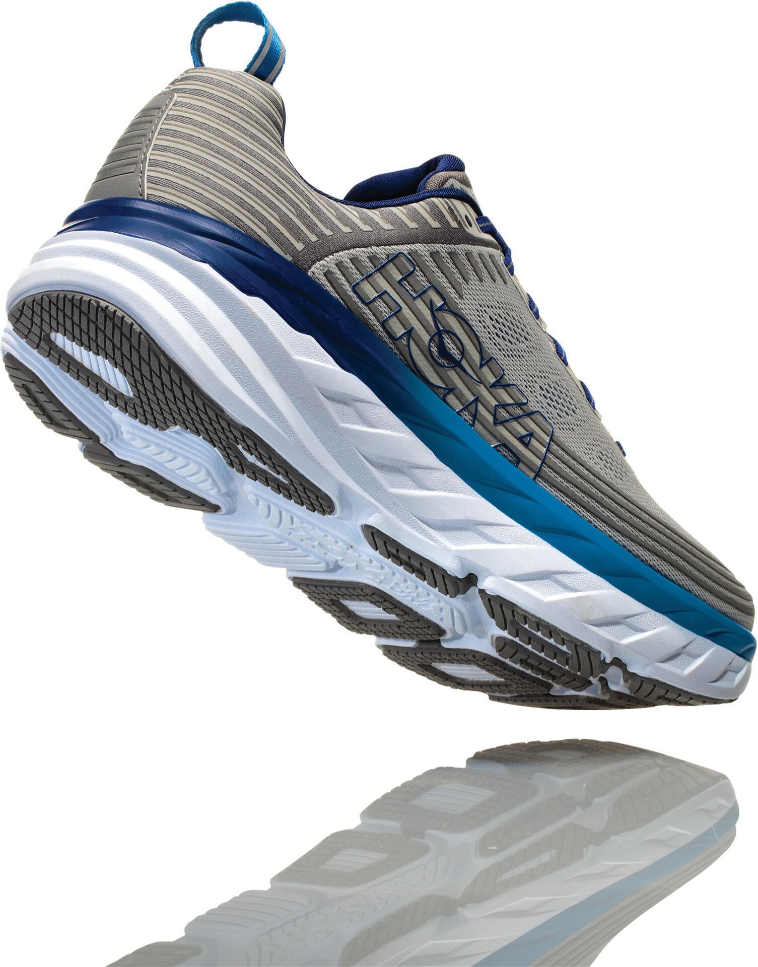Hoka One One Bondi 6 Running Shoes Herre vapor bluefrost gray